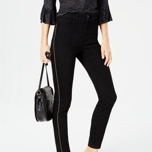 ~ Black Chain Embellished High Rise Skinny Jeans ~